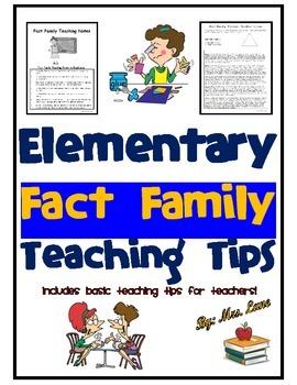 Elementary Fact Family Teaching Tips