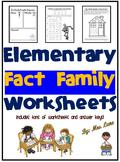 Elementary Fact Family Worksheets
