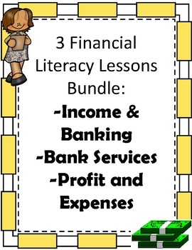 Elementary Financial Literacy Bundle: Three Booklets and Activities