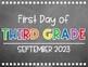 """""""First & Last Day of School"""" CHALKBOARD Signs {2017-2018 Back to School FREEBIE}"""