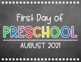 """First & Last Day of School"" CHALKBOARD Signs {Back to Sch"