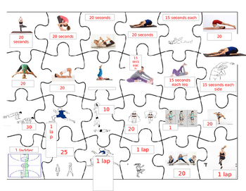Elementary Fitness Puzzles! (or Modified PE)