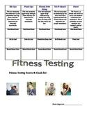 Elementary Fitness Testing Student Goal Template