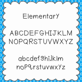 Elementary Font {personal and commercial use; no license needed}