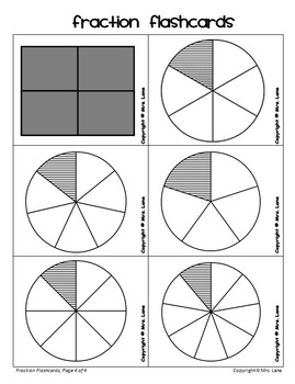 Elementary Fraction Flashcards