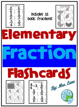Elementary Fraction Flashcards
