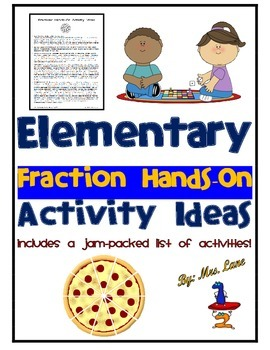 Elementary Fraction Hands-On Activity Ideas