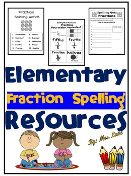 Elementary Fraction Spelling Resources