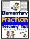 Elementary Fraction Teaching Tips