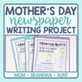 Mother's Day Writing - Newspaper Activity