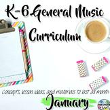 Elementary General Music Curriculum (K-6): January