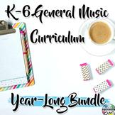 Elementary General Music Curriculum (K-6): Year-Long Bundle