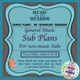 Elementary General Music Sub Plans for the Non-Musical Substitute Teacher