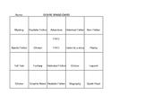 Elementary Genre Bingo Card
