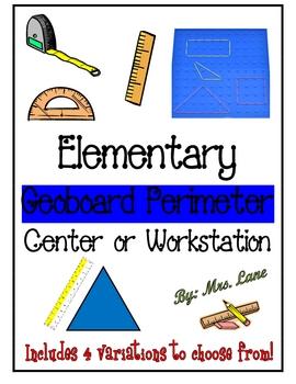 Elementary Geoboard Perimeter Center/Workstation!