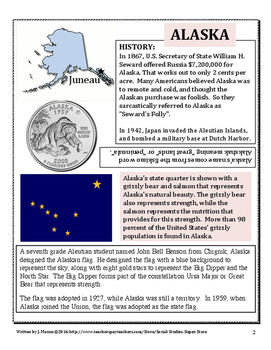 Elementary Geography State Information Guide - Alaska