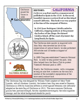 Elementary Geography State Information Guide - California