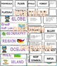 Elementary Geography Terms Bulletin boards, games, word walls, study guide