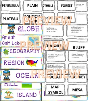 Content Vocabulary Geography  Bulletin boards, games, word walls, study guide