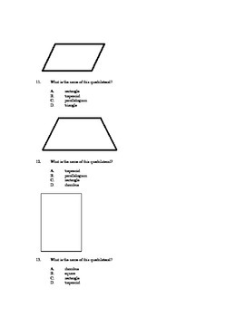 Elementary Geometry Assessment