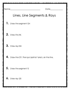 Elementary Geometry: Drawing Lines, Line Segments and Rays