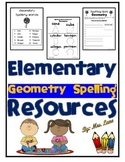 Elementary Geometry Spelling Resources