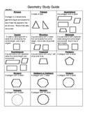 Elementary Geometry Study Guide