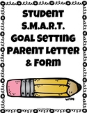Elementary Goal Setting Family Letter and Form