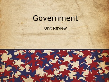 Elementary Government Unit Review Powerpoint