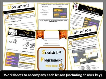 Grades 1-4: Scratch 1.4 Programming Lesson Plans Bundle