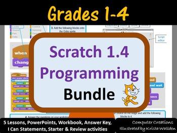 Grades 1-4: Scratch 1.4 Programming Bundle (ISTE 2016 Aligned)
