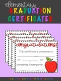 Elementary Graduation Diploma Certificates - Customizable!