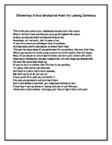 Elementary Graduation Poem for Leaving Ceremony