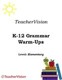 Elementary Grammar Warm-Ups Packet