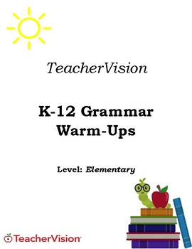 Elementary Grammar Warm-Ups Packet