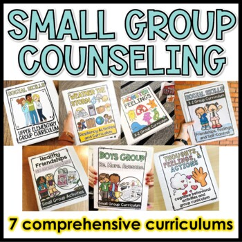 Elementary Group Counseling Curriculum Bundle