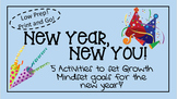 """Elementary Growth Mindset Activities """"New Year, New You!"""""""
