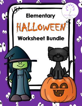 Elementary HALLOWEEN Worksheet Bundle