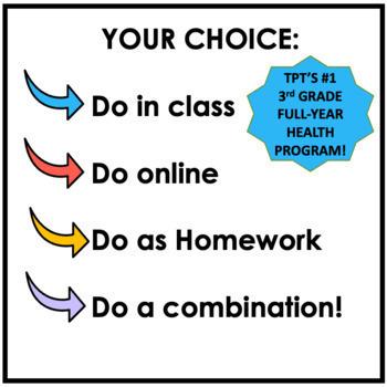 3rd Grade Health Made Easy! BEST-SELLING Full-Year 3rd Grade Health Task Cards