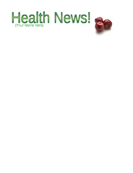 Elementary Health Newsletter Activities and Ideas