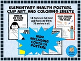 Elementary Health and COVID-19 Posters, Clip Art, and Colo