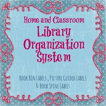 Elementary Home or Classroom Library Organization System