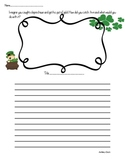 Elementary If I Caught A Leprechaun Writing Prompt