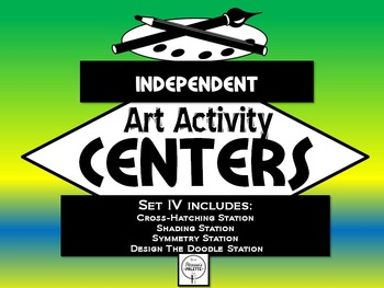 Elementary Independent Art Activity Centers Set 4