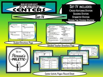 Elementary Independent Art Activity Centers Set 4