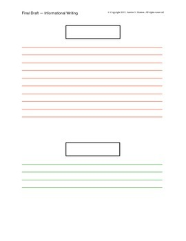 Elementary Informative Writing Template