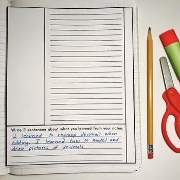 Elementary Interactive Math Notebook: NO PREP Notes FREEBIE