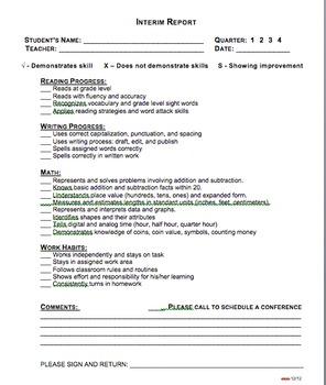 Elementary Interim Report