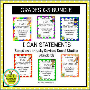 "Elementary (K-5) ""I Can"" Statements for KY NEW Revised Social Studies Standards"