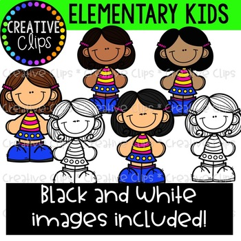 Elementary Kids Clipart {Creative Clips Clipart}